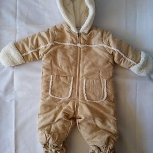 First Impression New Grey baby so Soft Puffer suit